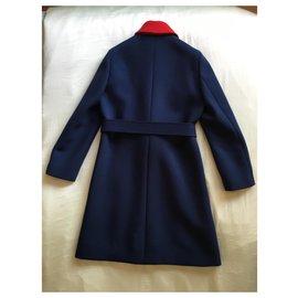 Gucci-Casaco de trincheira-Azul