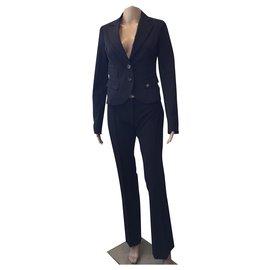 Elisabetta Franchi-tailleur pantalon-Gris anthracite
