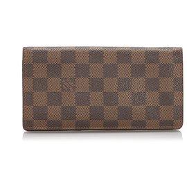Louis Vuitton-Louis Vuitton Brown Damier Ebene Brazza Portefeuille-Marron