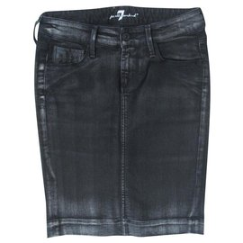 7 For All Mankind-Skirts-Black,Grey