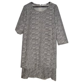 Chloé-CHLOE dress size 38-Beige,Grey