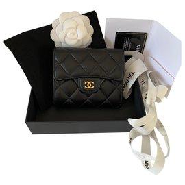Chanel-Chanel kompakte Geldbörse-Schwarz