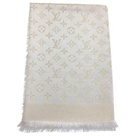 Louis Vuitton-Écharpe monogramme-Blanc