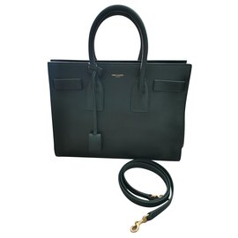 Saint Laurent-Saint Laurent Sac du jour green bag-Dark green
