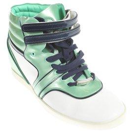 Sergio Rossi-sneakers-Blanc,Vert