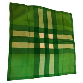 Burberry-Silk scarves-Green