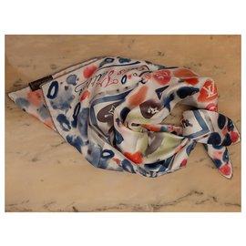Louis Vuitton-Foulard in seta-Multicolore