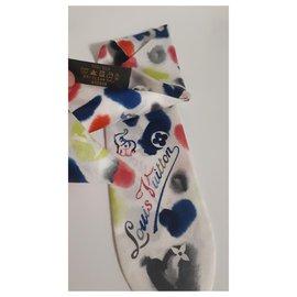 Louis Vuitton-Bandeau en soie-Multicolore