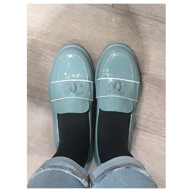 Chanel-Flats-Light blue