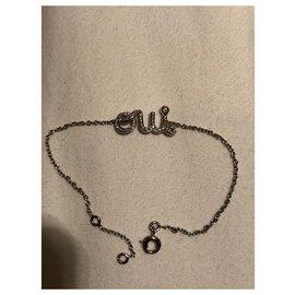 Dior-Bracelet Oui avec diamants lettres OUI-Argenté