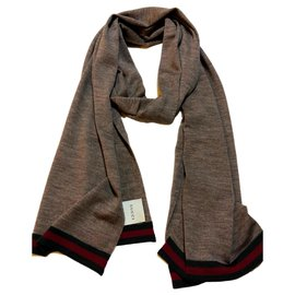 Gucci-écharpe en laine gucci-Marron clair