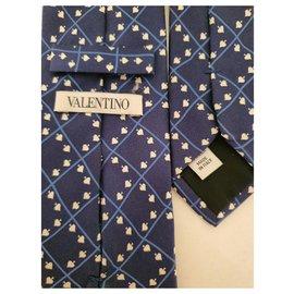 Valentino-Cravates-Bleu Marine