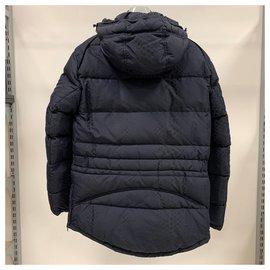 Roberto Cavalli-Printed down parka jacket-Dark blue