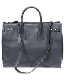 Saint Laurent-DAY BAG XL SAINT LAURENT-Navy blue,Dark blue