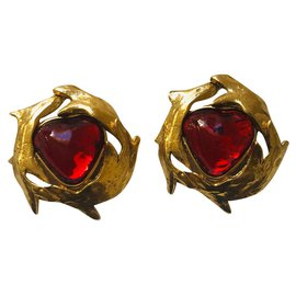 Yves Saint Laurent-Earrings-Golden