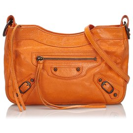Balenciaga-Balenciaga Orange Classic Hip Crossbody Bag-Orange