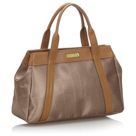 Chloé-Chloe Brown Canvas Handbag-Brown,Bronze