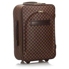 Louis Vuitton-Louis Vuitton Brown Damier Ebene Pegase 60-Marron