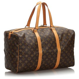 Louis Vuitton-Louis Vuitton Monogramme Sac Souple Marron 45-Marron