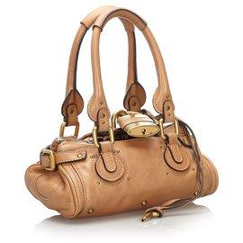 Chloé-Chloe Brown Leather Paddington Handbag-Brown