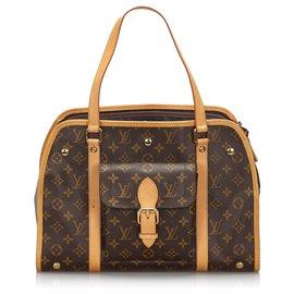 Louis Vuitton-Sac Louis Vuitton Monogram Marron Baxter GM-Marron