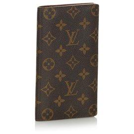 Louis Vuitton-Louis Vuitton Brown Monogram Brazza Wallet-Brown