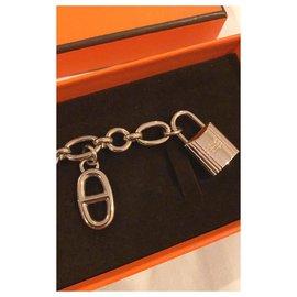 Hermès-Hermes Olga Palladium bag charm-Silvery