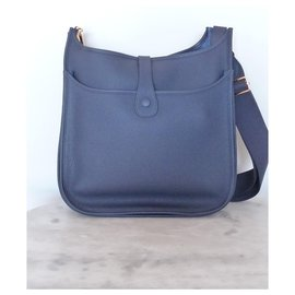 Hermès-HERMES BAG EVELYNE III 33-Dark blue