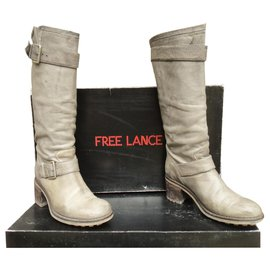 Free Lance-Free Lance boots Bikerwash model 7 Hi strap p39-Grey
