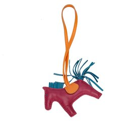 Hermès-Hermes Red Grigri Rodeo Bag Charm-Red,Blue