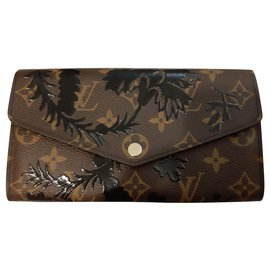 Louis Vuitton-portefeuilles-Marron,Noir