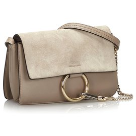 Chloé-Chloe Gray Leather Faye-Other,Grey