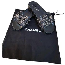 Chanel-Chanel slipper-Blue