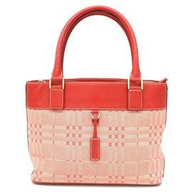 Burberry-Burberry Vintage Tote Bag-Pink
