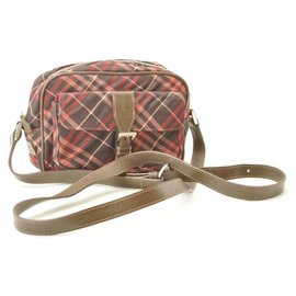 Burberry-Burberry Label Nova Check-Red