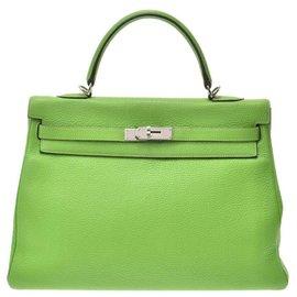 Hermès-Sac à main Hermès Vintage-Vert