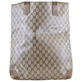 Gucci-Sac cabas Gucci Sherry Line GG-Marron
