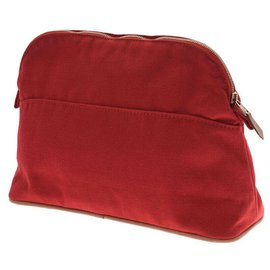 Hermès-Hermès Bored Pouch 25 Goods-Red
