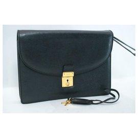 Gucci-Gucci Leather Clutch Bag-Black