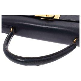 Hermès-Sac à main Hermès Vintage-Noir