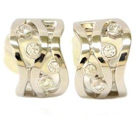 Mikimoto-Boucle d'oreille en diamant Mikimoto-Doré