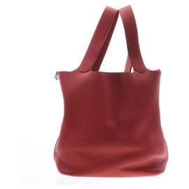 Hermès-Hermès Picotin Lock sizeM-Red