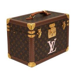 Louis Vuitton-VANITY BOITE PHARMACIE PINK LV-Marron,Rose