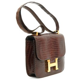 Hermès-CONSTANCE CROCO BROWN-Marron