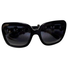 Chanel-Lunettes de soleil Chanel Bijou (Édition Limitée)-Noir