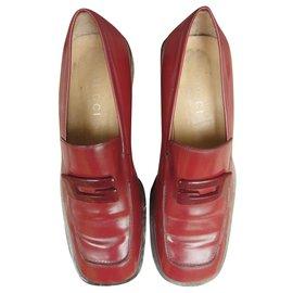 Gucci-mocassins Gucci p 37 1/2-Rouge