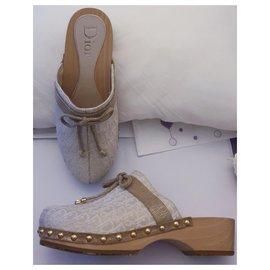 Dior-Dior clogs 34-Beige,Golden,Sand