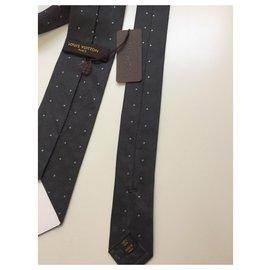 Louis Vuitton-Cravate Vuitton-Gris anthracite