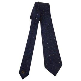 Louis Vuitton-cravate en soie-Bleu