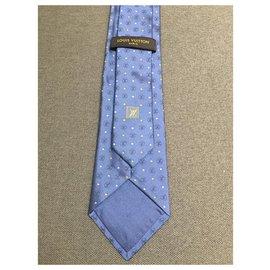 Louis Vuitton-Cravate Vuitton-Bleu,Bleu clair